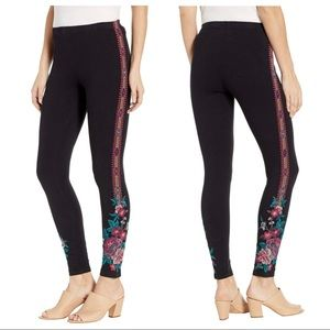 Johnny Was Floral Embroidered Annalise Leggings